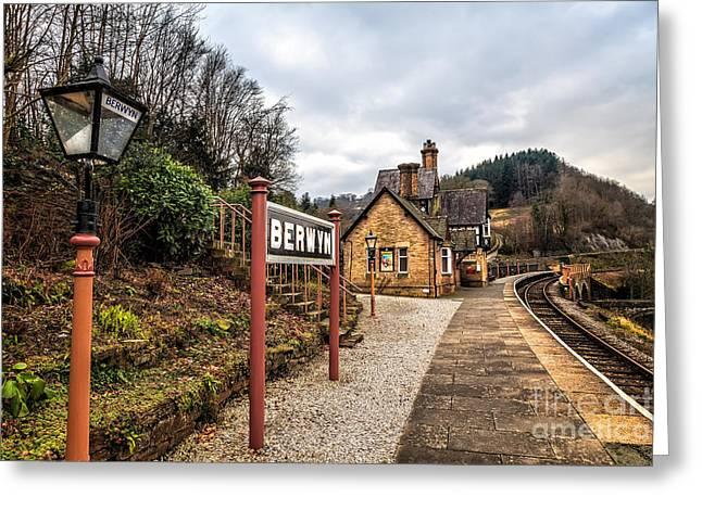 Berwyn Station Greeting Card by Adrian Evans