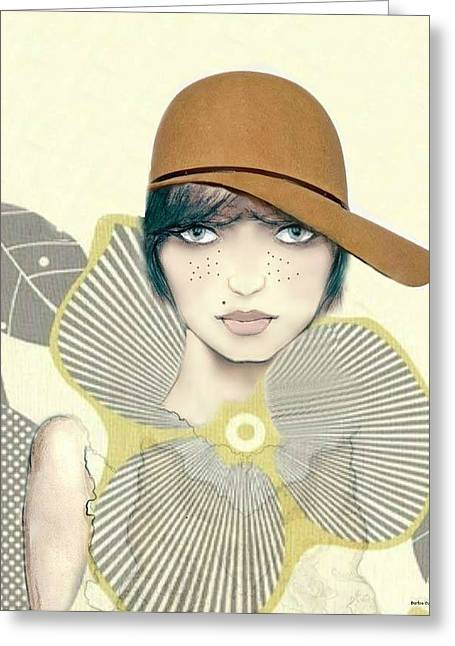 Tomboy Greeting Cards - Bess Greeting Card by Barbie Guitard