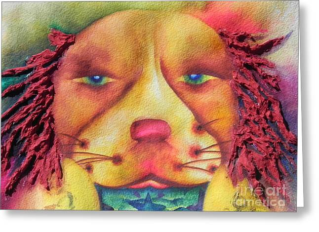 Fantasty Greeting Cards - Best Dog In Show With Dog A Tude Two Greeting Card by Chrisann Ellis