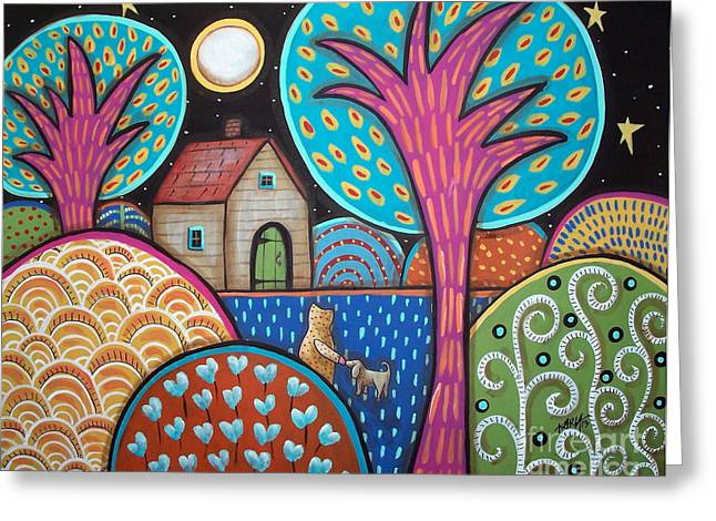 Abstract Prints For Sale Paintings Greeting Cards - Best Friend Greeting Card by Karla Gerard