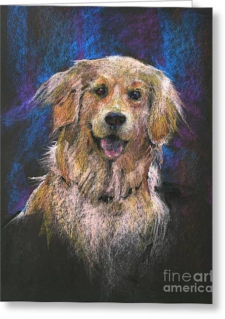 Yellow Dog Greeting Cards - Best Friend Greeting Card by Shelley Schoenherr