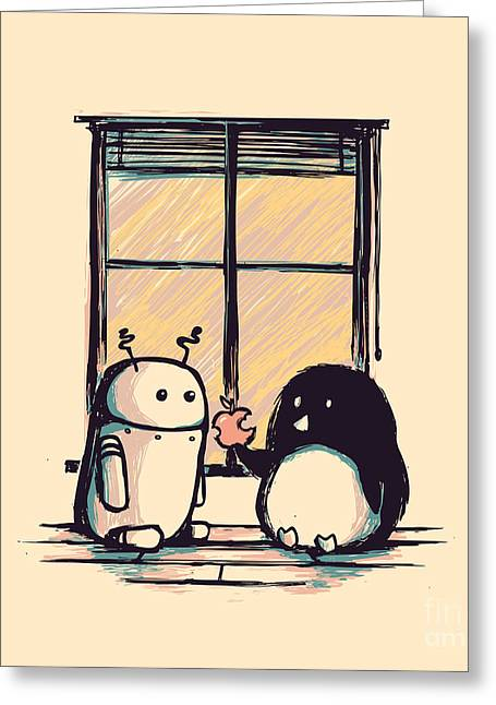 Programming Greeting Cards - Best friends Greeting Card by Budi Kwan