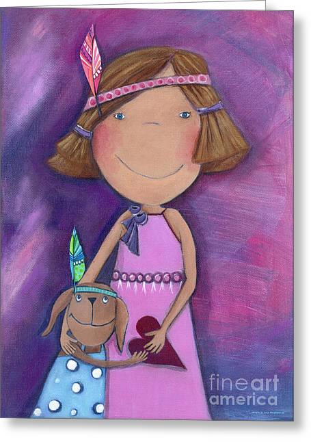Crafts For Kids Greeting Cards - Best Friends Forever Greeting Card by Sonja Mengkowski