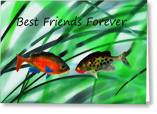 Friends Forever Greeting Cards - Best Friends Forever Greeting Card by Terril Heilman