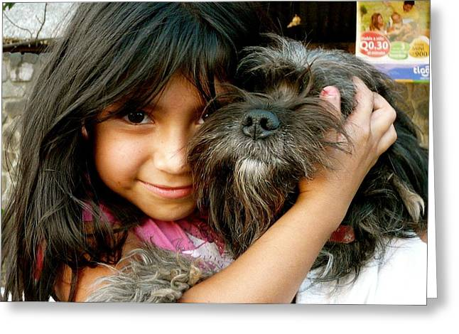 Mayan Dog Greeting Cards - Best Friends Greeting Card by Eye Browses