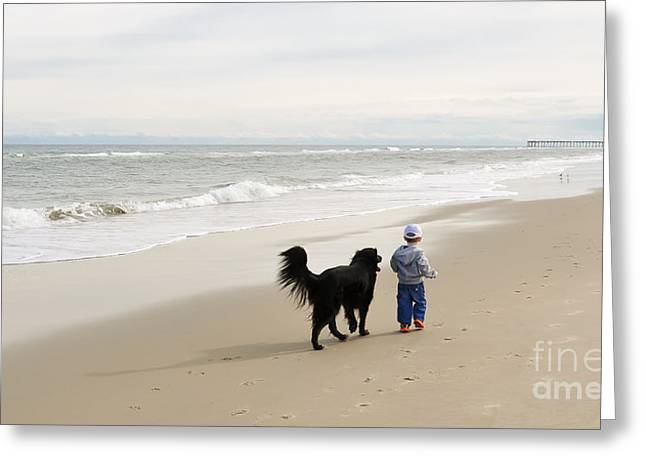 Sea With Waves Greeting Cards - Best Friends Greeting Card by Lee Wilson