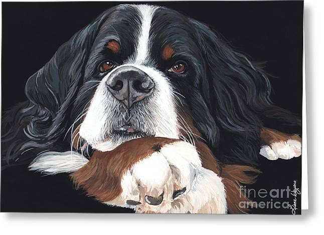 Berner Greeting Cards - Best In Black Greeting Card by Liane Weyers