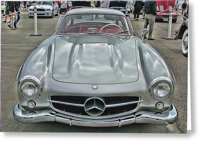 Best In Show Mercedes Benz 300sl Gullwing Greeting Card by Samuel Sheats
