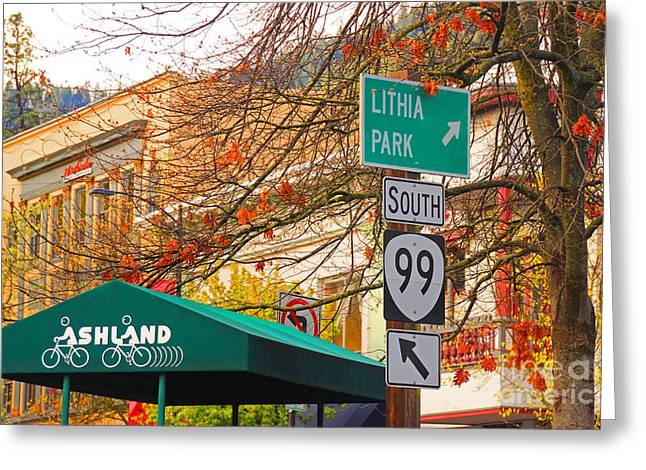 Best Little Town In Oregon Greeting Card by Kris Hiemstra
