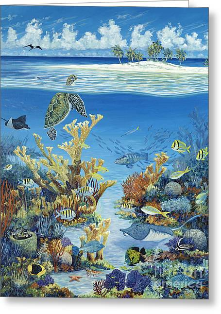 Reef Fish Greeting Cards - Best of Both Worlds Greeting Card by Danielle  Perry