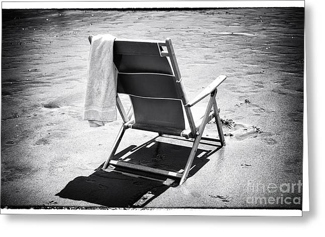 Beach Towel Greeting Cards - Best Seat Greeting Card by John Rizzuto