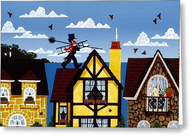 Carmel Greeting Cards - Best View In Town Greeting Card by Merry  Kohn Buvia
