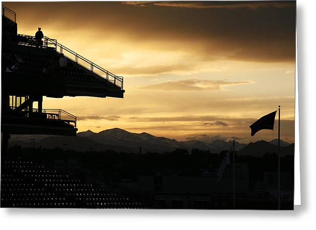 Americana Landscapes Greeting Cards - Best View of All - Rockies Stadium Greeting Card by Marilyn Hunt