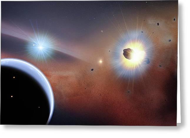 Beta Pictoris Star Greeting Card by Nasa's Goddard Space Flight Center/f. Reddy