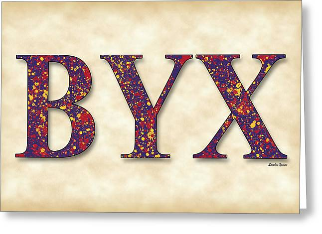 Brotherhood Greeting Cards - Beta Upsilon Chi - Parchment Greeting Card by Stephen Younts