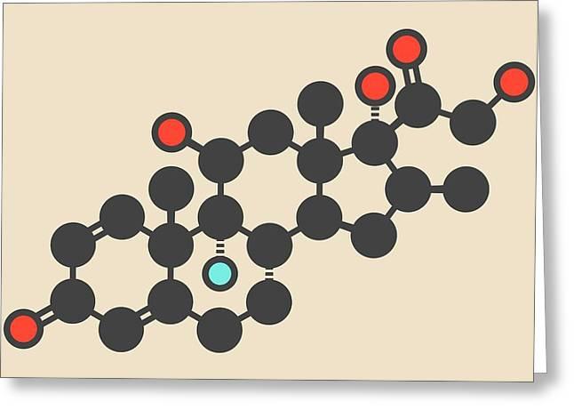 Betamethasone Drug Molecule Greeting Card by Molekuul