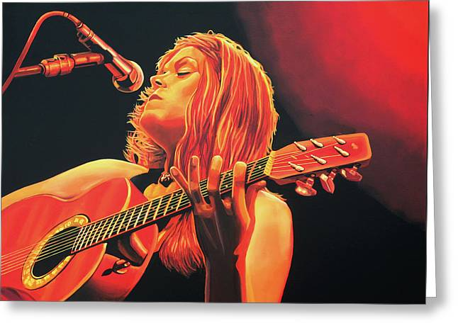 Beth Hart  Greeting Card by Paul Meijering