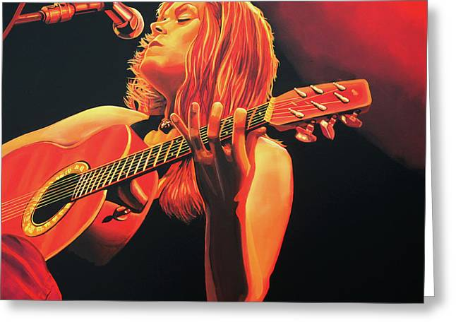Singer Paintings Greeting Cards - Beth Hart  Greeting Card by Paul  Meijering