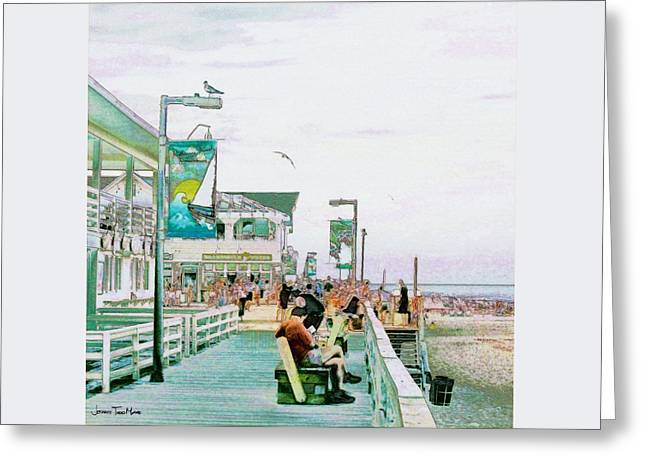 Bethany Beach Greeting Cards - Bethany Beach Circa 2004 Greeting Card by Jeffrey Todd Moore