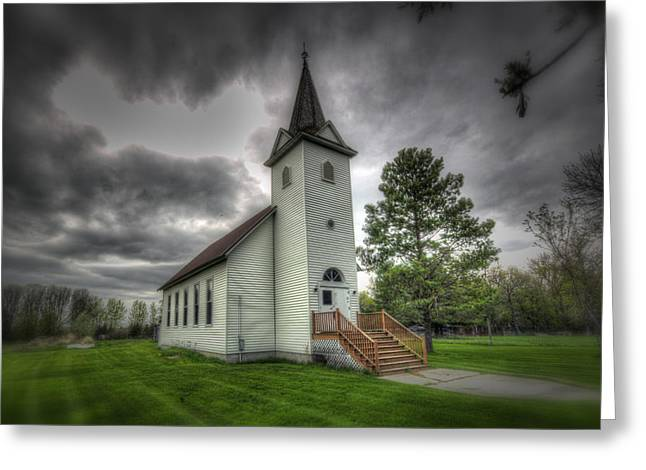 Bethany Prairie Church Greeting Card by David Foster