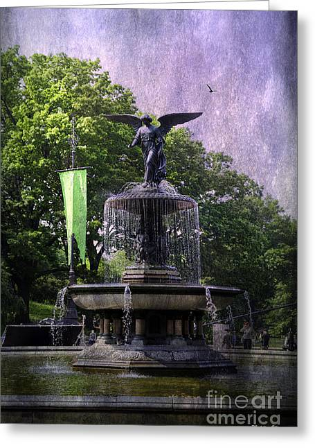 Bethesda Fountain Greeting Cards - Bethesda Fountain Greeting Card by Madeline Ellis