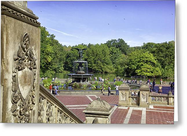 Bethesda Fountain Greeting Cards - Bethesda Fountain V - Central Park Greeting Card by Madeline Ellis