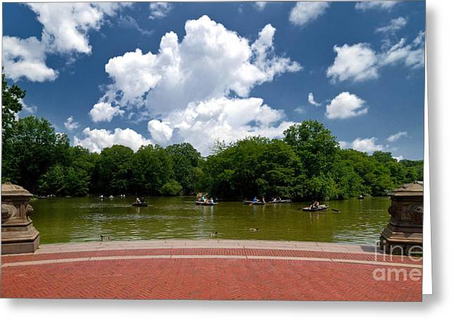 Rowboat Greeting Cards - Bethesda Terrace Central Park New York Greeting Card by Amy Cicconi