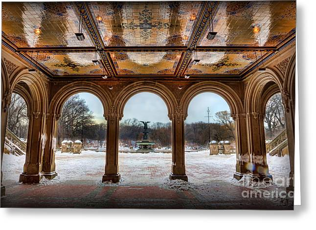 Bethesda Terrace Lower Passage II Greeting Card by Lee Dos Santos