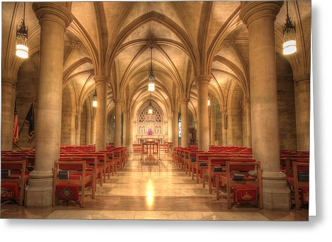 Recently Sold -  - Religious Greeting Cards - Bethlehem Chapel Washington National Cathedral Greeting Card by Shelley Neff