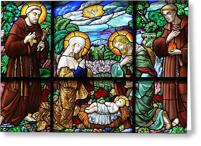 Baby Jesus Greeting Cards - Bethlehem Nativity - Church of St. Catherine Greeting Card by Stephen Stookey