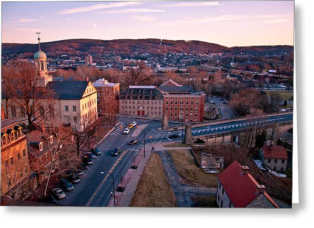 Recently Sold -  - Mountain Valley Greeting Cards - Bethlehem PA Greeting Card by Foto Fawx