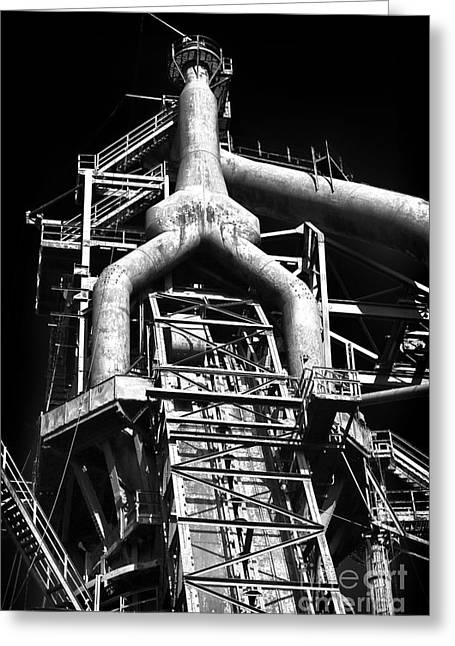 Beth Greeting Cards - Bethlehem Steel Giant Greeting Card by John Rizzuto