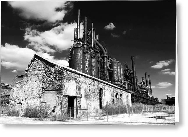 Old School Galleries Greeting Cards - Bethlehem Steel Greeting Card by John Rizzuto