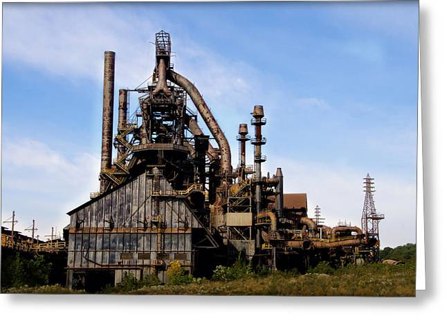 Pa Greeting Cards - Bethlehem Steel Mill Greeting Card by Bill Cannon