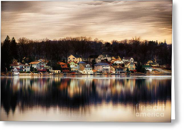 Betrand Island Greeting Card by Mark Miller