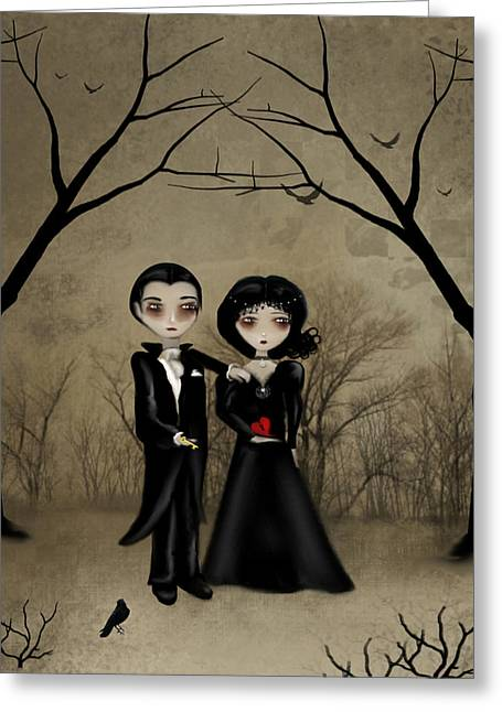 Gothic Romance Greeting Cards - Betrothed Greeting Card by Charlene Murray Zatloukal