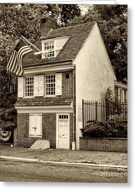 Betsy Greeting Cards - Betsy Ross House Greeting Card by Jack Paolini