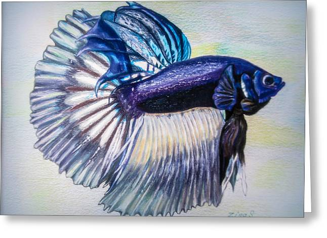 Betta Greeting Cards - Betta Fish Greeting Card by Zina Stromberg