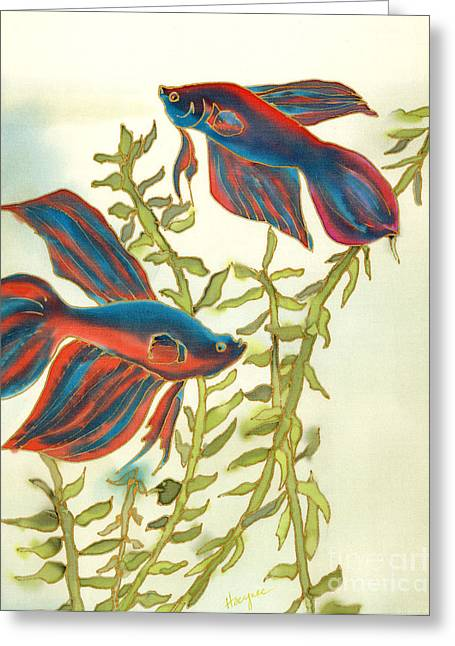 Best Sellers -  - Betta Greeting Cards - Betta Splendens Greeting Card by Addie Hocynec