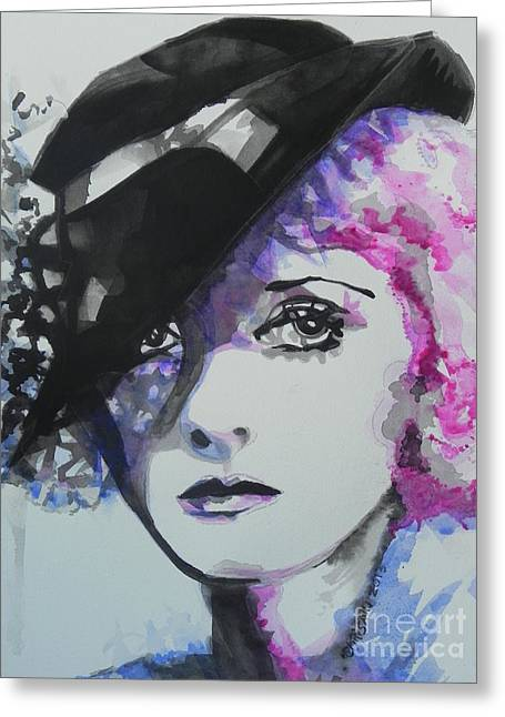 Bette Davis 02 Greeting Card by Chrisann Ellis