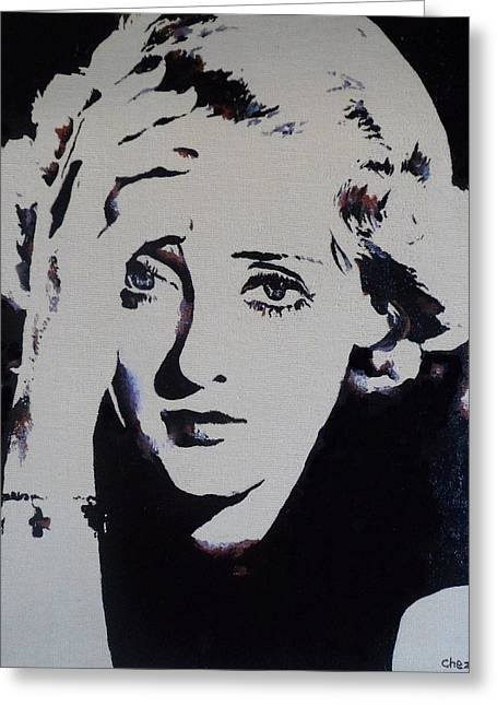 Starlet Paintings Greeting Cards - Bette Davis Greeting Card by Cherise Foster