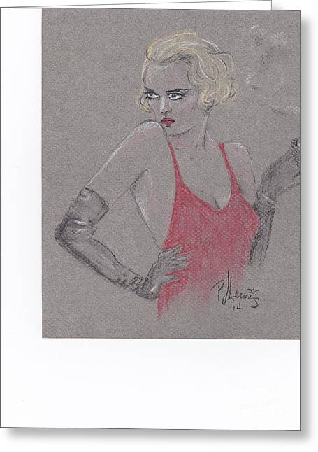 Beauty Pastels Greeting Cards - Bette Davis eyes Greeting Card by P J Lewis