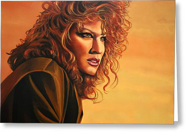 Gypsy Paintings Greeting Cards - Bette Midler Greeting Card by Paul  Meijering