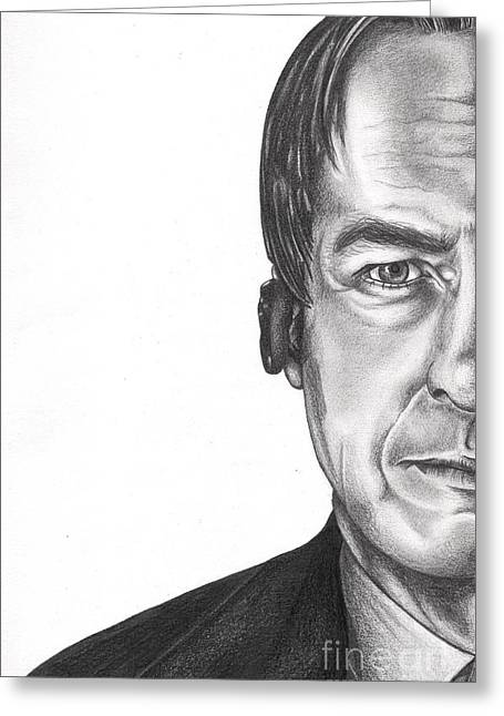 Vince Drawings Greeting Cards - Better Call Saul Greeting Card by Lynora Adams