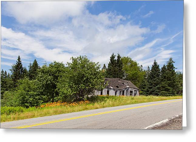 Rural Maine Roads Greeting Cards - Better Days Greeting Card by John Bailey