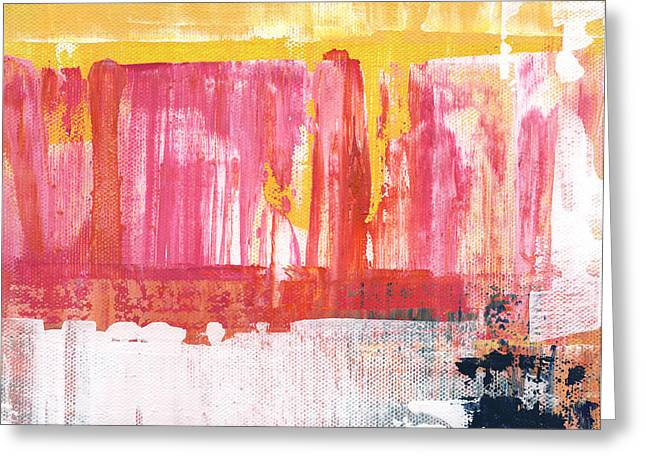 Better Days- Large Abstract Greeting Card by Linda Woods