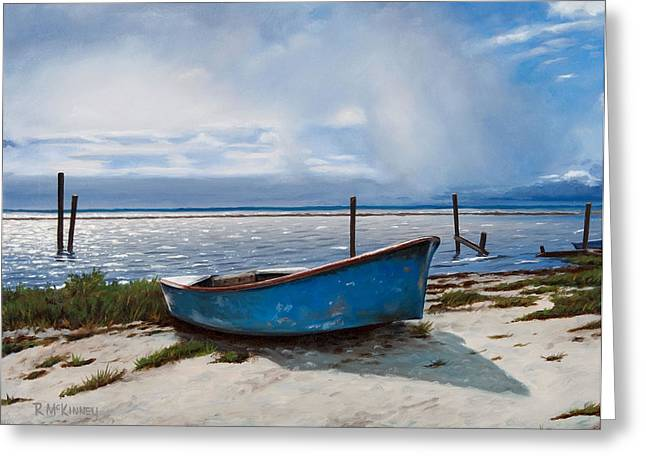 Old Boat Greeting Cards - Better Days Greeting Card by Rick McKinney