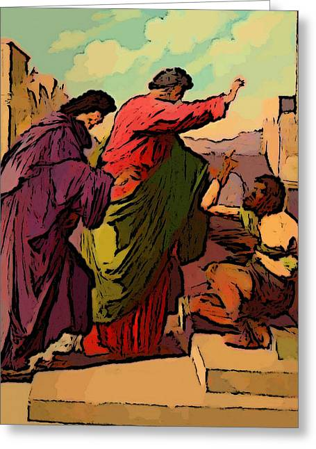 Jesus And Disciples Greeting Cards - Better than Silver and Gold Greeting Card by Keith Clark