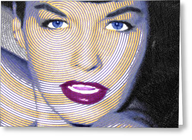 Recently Sold -  - 1960 Greeting Cards - Bettie Page Greeting Card by Tony Rubino