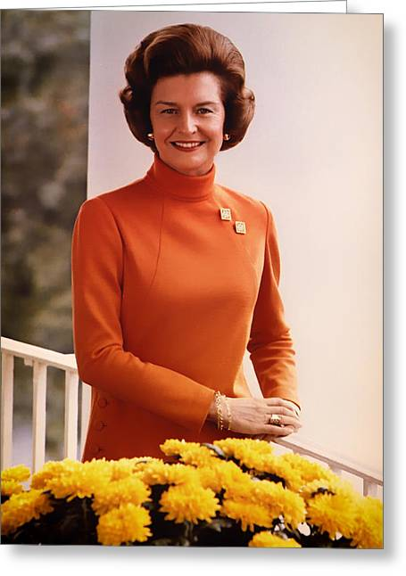 First-lady Photographs Greeting Cards - Betty Ford 1974 Greeting Card by Mountain Dreams